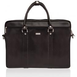 Brązowa skórzana torba na ramię laptopa solier SL03 kilbridge