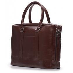Elegancka czarna skórzana męska torba ramię solier SL02 A