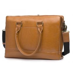 Elegancka brązowa skórzana męska torba ramię solier SL02 A