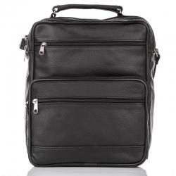 Czarna torba męska listonoszka do pracy