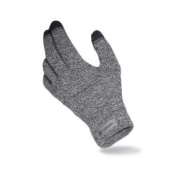 Ciepłe męskie rękawiczki zimowe pamami jasno szara mulina