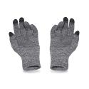 Ciepłe męskie rękawiczki zimowe pamami 16180 jasno szara mulina
