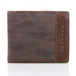 Brązowy unikalny portfel męski w stylu młodzieżowym