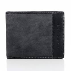 Czarny unikalny portfel męski w stylu młodzieżowym
