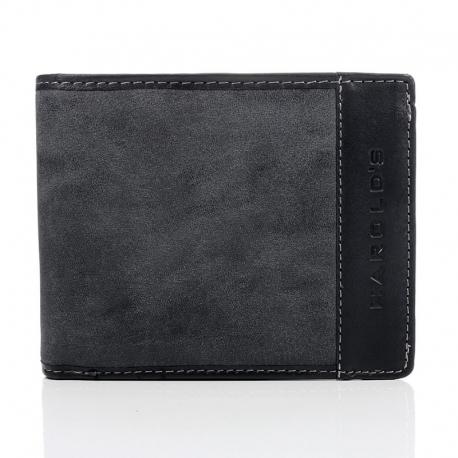 f51abbb6c840 Czarny unikalny portfel męski w stylu młodzieżowym - Gentle Man