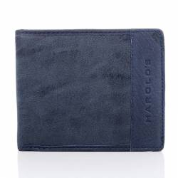 Granatowy unikalny portfel męski w stylu młodzieżowym