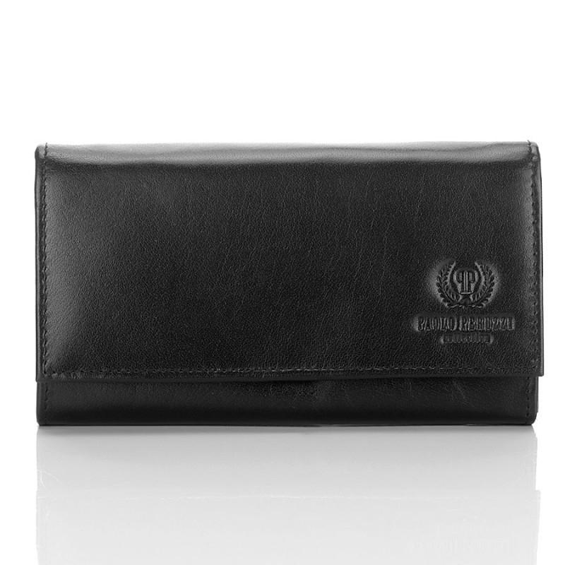 2e7a1edebe832 Duży czarny portfel damski skórzany - Gentle Man