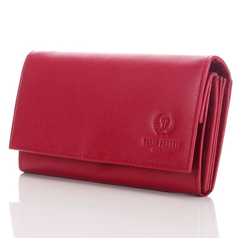 cd87536096a5e Duży czerwony portfel damski skórzany - Gentle Man