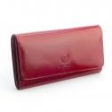 Czerwony ekskluzywny portfel damski kopertówka