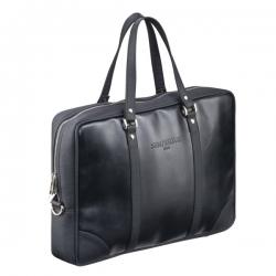 Czarna torba męska na laptopa na ramię