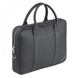 Czarna stylowa i elegancka torba na laptopa