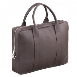 Brązowa stylowa i elegancka torba na laptopa