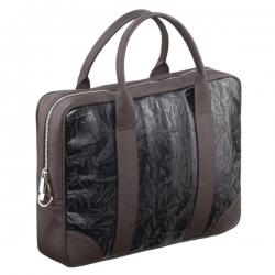Brązowa ekskluzywna torba męska na laptopa