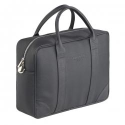 Czarna stylowa torba męska na ramię