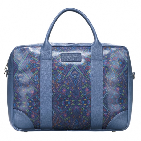 Niebieska torba biznesowa na laptopa