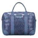Stylowa torba biznesowa na laptop niebieska print sempertus
