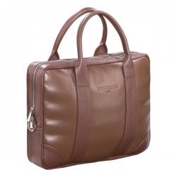 Brązowa skórzana torba biznesowa na laptopa