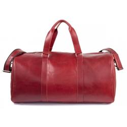 8a9d502f6a53c ... Skórzana torba podróżna na ramię brodrene bl20 czerwona smooth leather