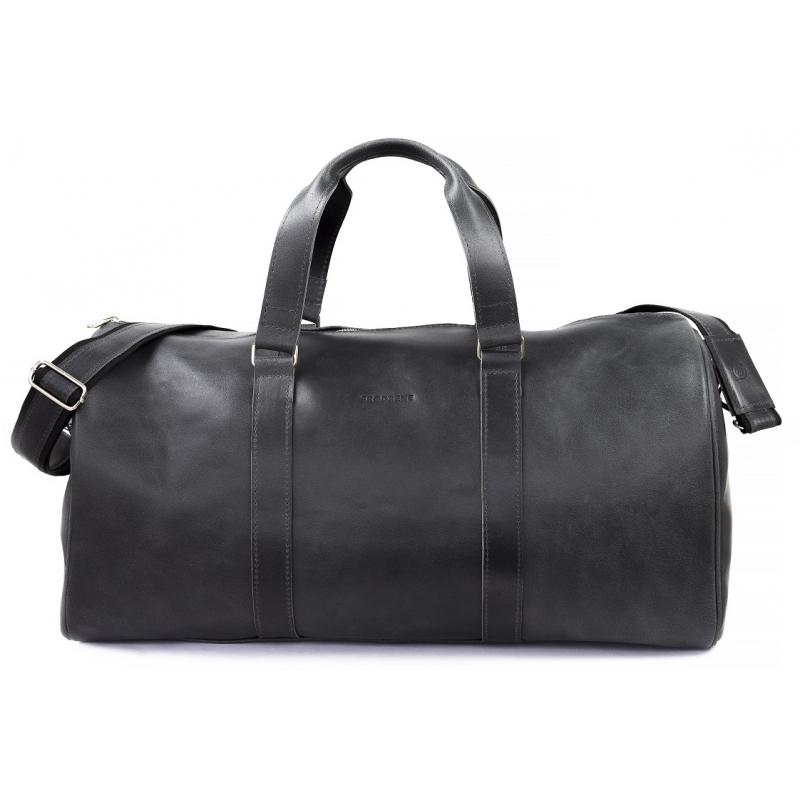 02a76b9b5d75d ... Skórzana torba podróżna na ramię brodrene bl20 grafit smooth leather ...