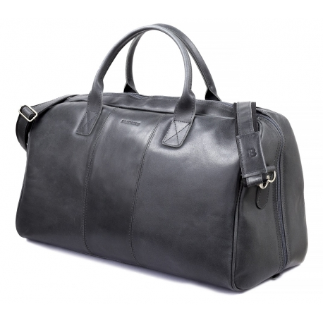 Skórzana torba podróżna na ramię brodrene bl30 grafit smooth leather