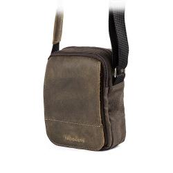 Mała torba na ramię listonoszka brodrene ml04dbdb ciemny brąz