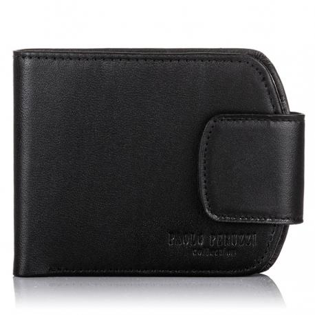 Skórzany czarny portfel damski