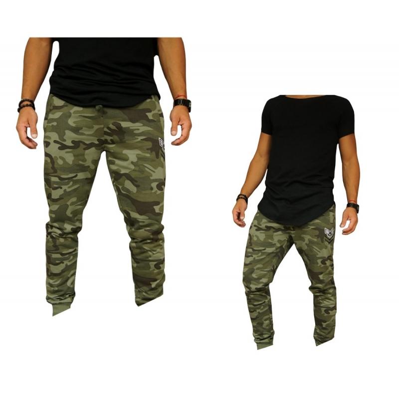 d6cbde995c1ea Spodnie zielone dresowe męskie moro - Gentle Man