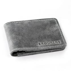 Granatowy cienki portfel slim wallet brodrene sw02