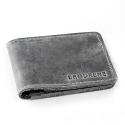 Szary cienki portfel slim wallet brodrene sw02