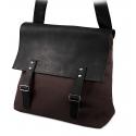 Stylowa torba na ramię z klapą brodrene ml18 brąz + czarny