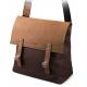 Stylowa torba na ramię z klapą brodrene ml18 brąz + jasny brąz