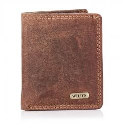 Jasno brązowy poręczny mały skórzany portfel męski