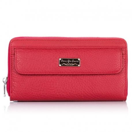 Czerwona damska elegancka kopertówka