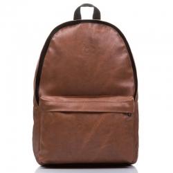 Skórzany brązowy plecak szkolny