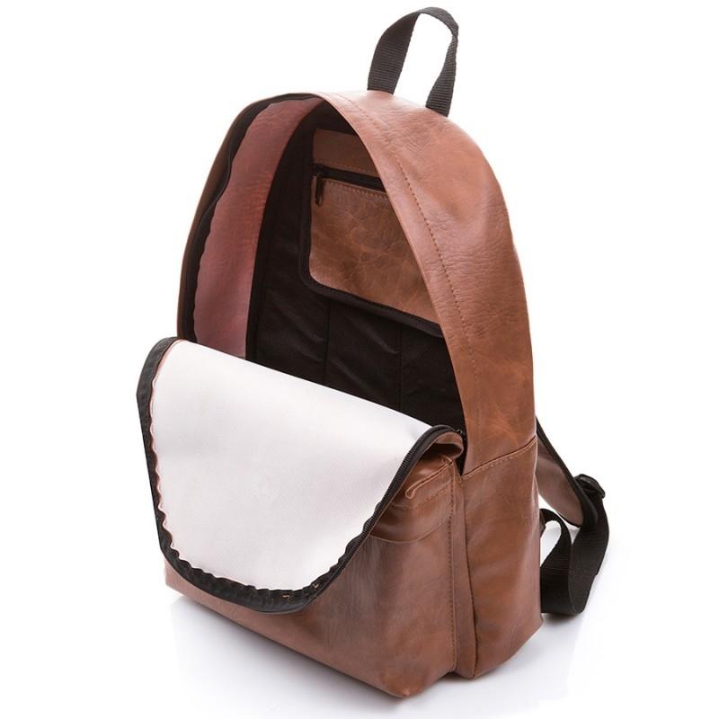 a68317575fd4f Skórzany czarny plecak szkolny - Gentle Man