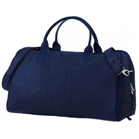 f593bb6619c62 Granatowa podróżna torba weekendowa brodrene bl10 - Gentle Man