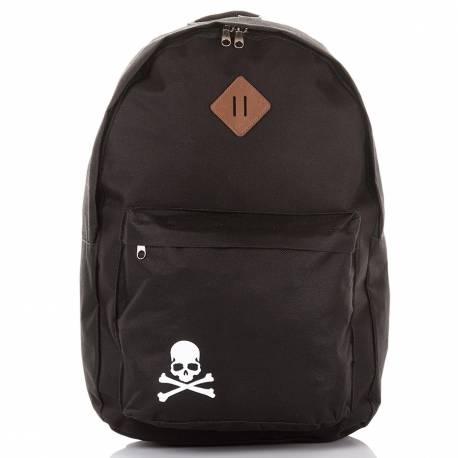 Młodzieżowy czarny plecak szkolny