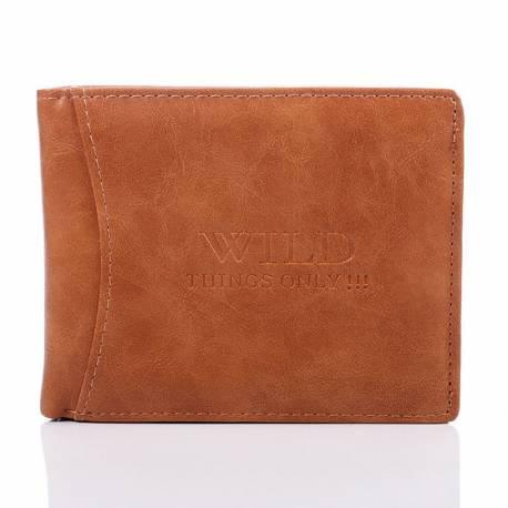 Męski elegancki portfel w kolorze brązowym