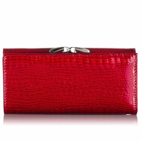 Duża czerwona  damska kopertówka