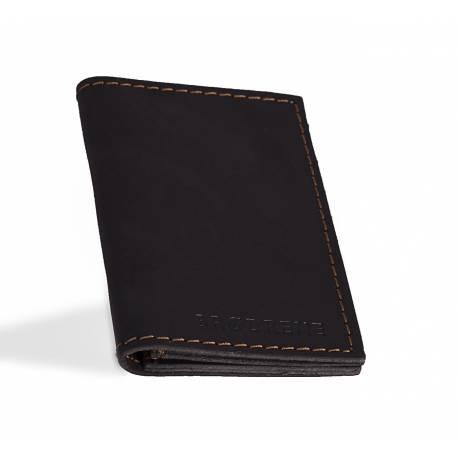 71ed63a156dbe Czarny skórzany portfel slim wallet brodrene sw03 - Gentle Man