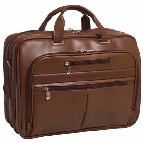Męska torba podróżna rockford skóra brąz