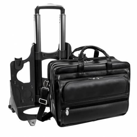 Podróżna torba skórzana na kółkach