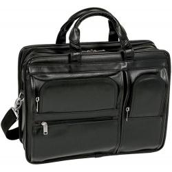 Czarna skórzana torba męska na laptopa