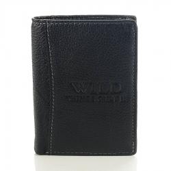Skórzany męski portfel wild czarny