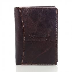 Skórzany męski portfel wild brązowy