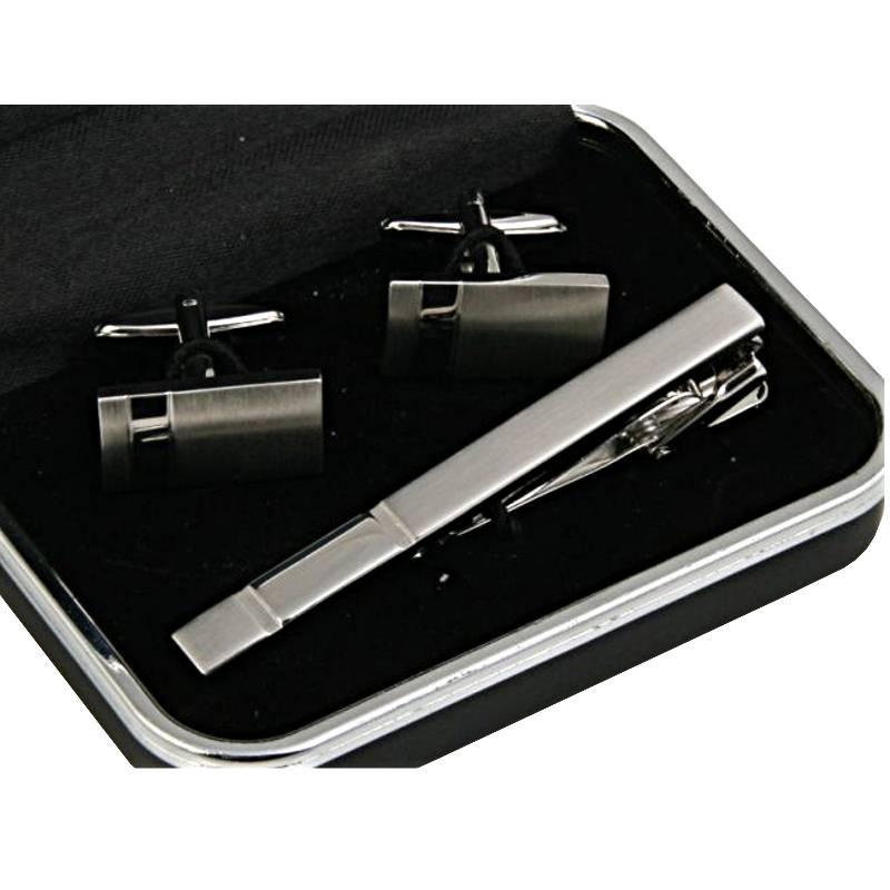 bce0164e7e98f Komplet spinek srebrnych do mankietów i krawata - Gentle Man