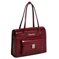 Czerwowa biznesowa torebka na laptopa