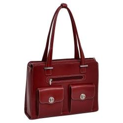 Skórzana czerwona torebka biznesowa