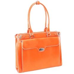 Pomarańczowa skórzana torebka damska