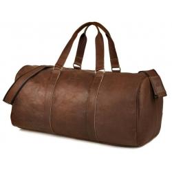 Brązowa vintage podróżna torba weekendowa brodrene bl40